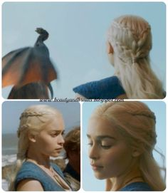Daenerys Stormborn's (Game of Thrones) Two-Layered Side Braids | Beauty and Braids