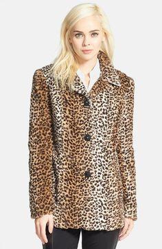 Sam Edelman Leopard Print Faux Fur Coat available at #Nordstrom