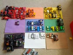Color sort cars