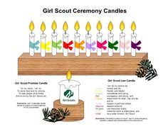 Girl Scout Ceremony Candles -- http://media-cache-ec6.pinterest.com/originals/66/d8/29/66d829d8782da99043c68c6f17b638c5.jpg