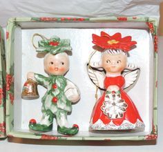 Vintage MINT in BOX Napco Merry Christmas by ValeriesVintages, $100.00