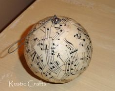 song sheet Christmas Ornament top