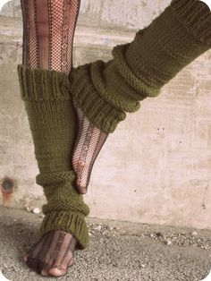 Leg Warmers Knit Leg Warmers Green Leg Warmers by AutumnAndAmber, $51.00