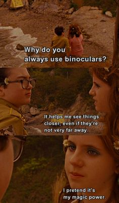 I watched Moonrise Kingdom with Allegra and Ashley.