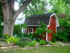cupolas on small barn sheds | KenTon Garden Tour was this small lot dominated by this red barn shed ...