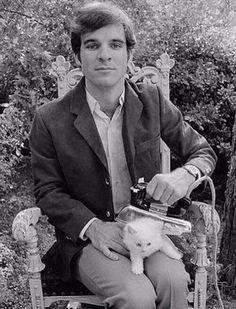 Steve Martin ironing his kitten