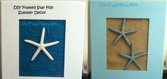 Framed Starfish - Summer Decor