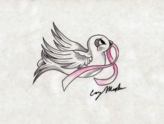 22_Breast Cancer Dove Tattoo Design tattoos | tattoos picture dove tattoo designs