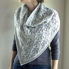 Overskyet shawl knit