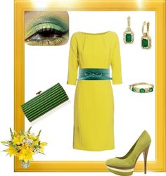 mellow yellow, created by wandi1 on Polyvore