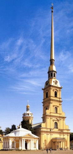 The Peter and Paul Cathedral: a Russian Orthodox cathedral inside the Peter and Paul Fortress in St. Petersburg, Russia.