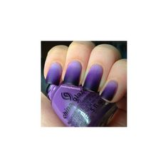 Aubrey Hannah Purple Ombre Nails (Tutorial) found on Polyvore