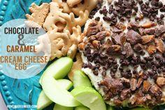 chocolate and caramel cream cheese egg #EatMoreBites #CollectiveBias