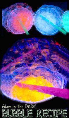 glow in the dark bubble recipe