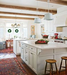 beams + great open kitchen