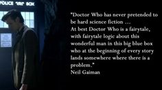 This is an interesting, and valid, assertion of Doctor Who