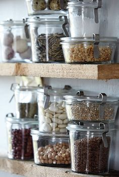 Open shelf pantry with Weck