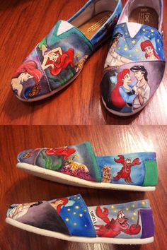 o m g little mermaid shoes?!!! LOVE them! and where can i get some