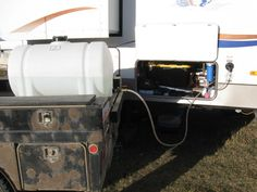 http://rvhappyhour.com/forums/topic/boondocking-tanker/ Some good ideas in this forum thread for adding fresh water when boondocking #RV