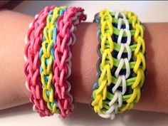 ▶ How to make a Rainbow Loom Twisty Wristy Bracelet design - YouTube