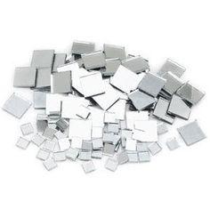 squar, art crafts, mosaics, mirror tile, 500 count, mosaic tiles, light, christmas trees, mosaic mirrors