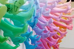 A Rainbow of Shoes and Legs for Breuninger by John Breed