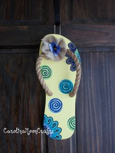 Door Decs - Flip Flop (Recreate with patterned scrapbook paper, cardboard, spare fabric and rope)