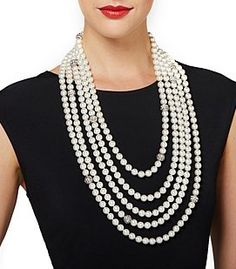 """When we think timeless style, pretty pearls come to mind! The """"Unforgettable"""" Necklace & Bar Pin from The Audrey Hepburn™ Collection is a wardrobe must. Would you wear over a white tee and jeans or pair with your go-to little black dress?"""