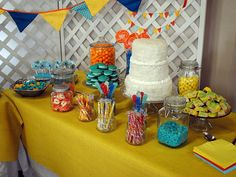 Baby Shower Decor - bright table