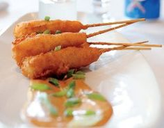 Wild Gulf Shrimp Corn Dogs with Tabasco by recipelion #Corn_Dogs #Shrimp