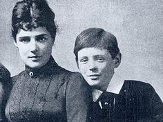 Jennie Jerome and son, Winston Churchill