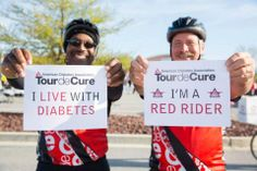 "Red Riders are the reason we ride and raise money to #StopDiabetes through Tour de Cure. If you have diabetes, be sure to select ""Red Rider"" when you sign up for your local Tour. You'll receive a free recognition gift! Register now! #TourdeCure"