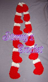 Christmas Stocking Scarf #scarf free #crochet pattern