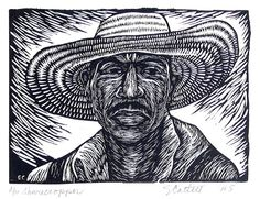 Sharecropper....by Elizabeth Catlett linocut