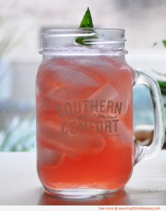 The Scarlett O'Hara: Southern Comfort, Cranberry Juice, Club Soda, Lime Juice. Mix, stir & serve!
