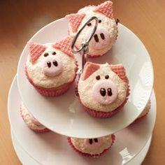 Easy to make piggy cupcake