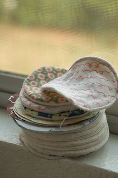reusable cotton rounds. ( for make up remover ).