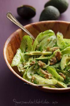 Avocado and Romaine Salad with Walnuts 5 Avocado and Romaine Salad with Walnuts
