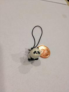 Polymer Clay Charm Panda.