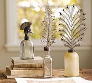 Feather topped bottles