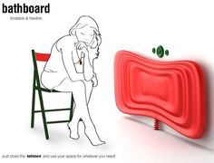 Innovative Bathboard For Small Spaces - it's a collapsible, fold up bathtub