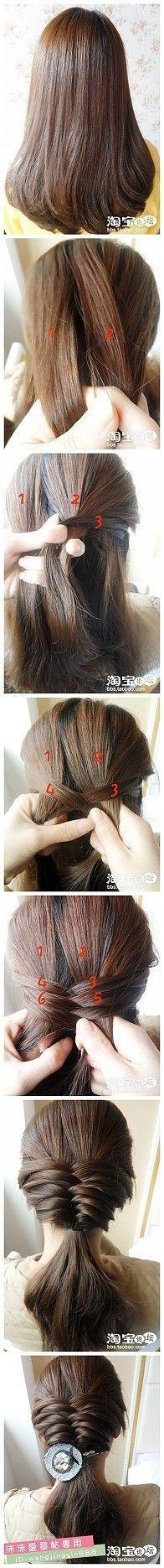 fishtail. minus the fish hair accessory