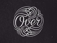 Over - #typography #type