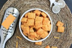Homemade Cheddar Crackers from Bake Your Day