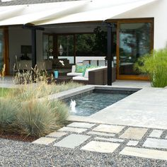 Landscape Fountain Set Into Retaining Wall Design, Pictures, Remodel, Decor and Ideas - page 6
