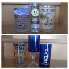 wine, recycled glass, liquor bottles, recycl glass
