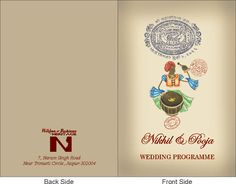 Check out our customized Add On products like car sticker, gift envelope, program book, welcome tag etc. that you can order with the wedding card.