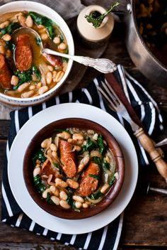 Chorizo & White Bean Stew sausag, white bean and chorizo, chorizo stew, food, yum, stew recipes, bean stew, soup recip, bean soup