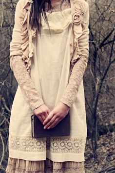 ruffles and flowers on sweater