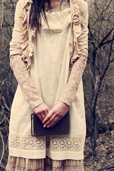 ruffles and flowers on sweater english roses, books, fashion, style, cloth, dress, diaries, closet, mori girl
